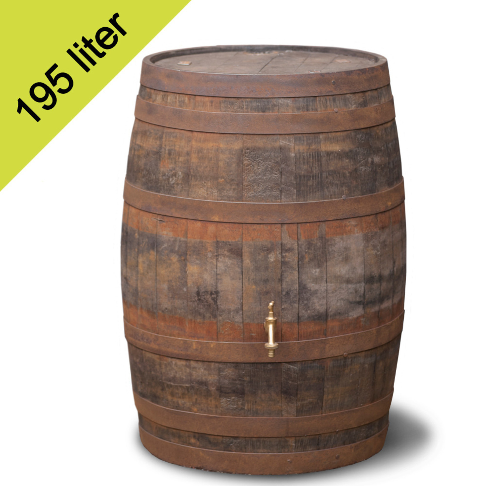 Ton Whiskey 195 liter hergebruik GEBORSTELD
