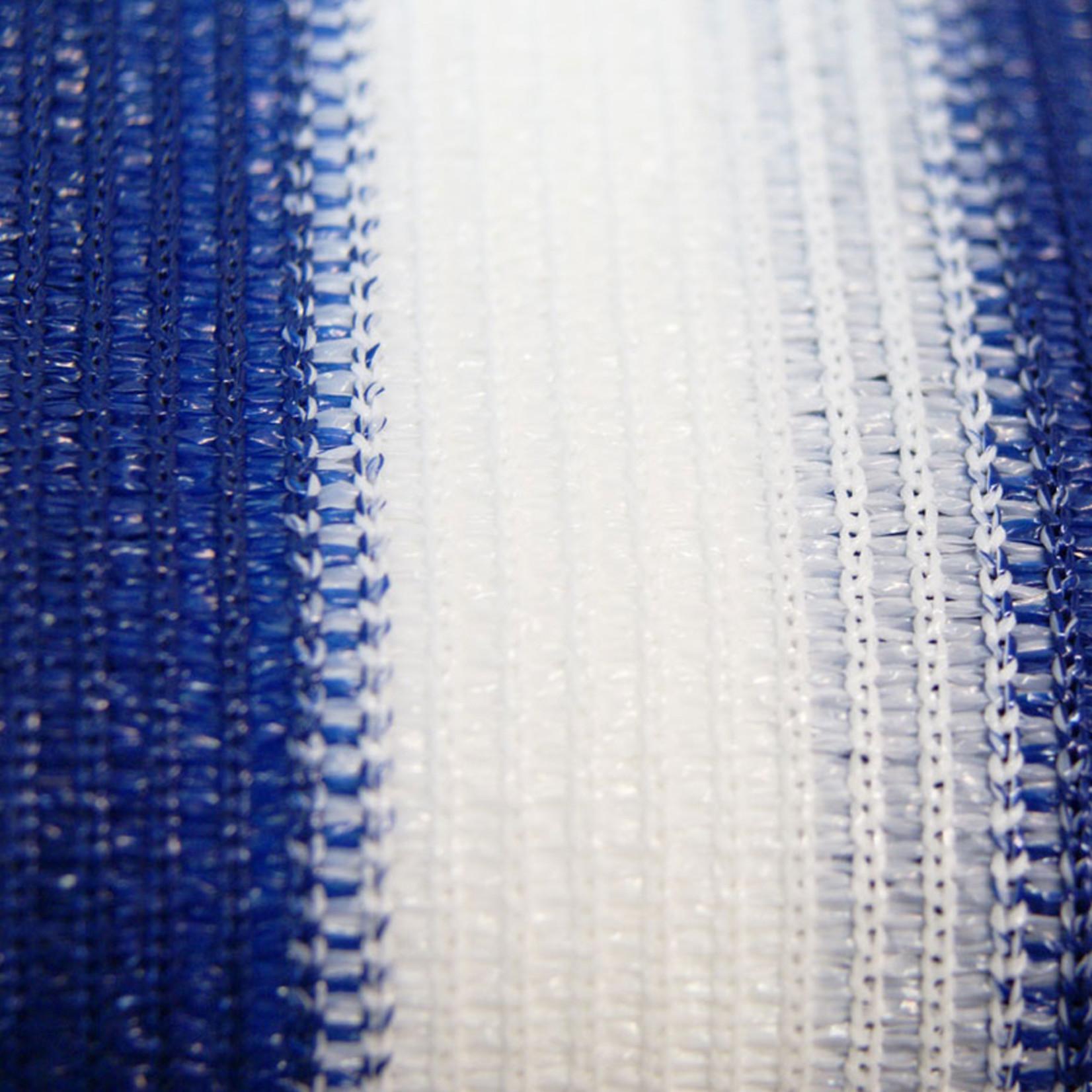 Balkondoek 0,9 x 5 mtr blauw/wit