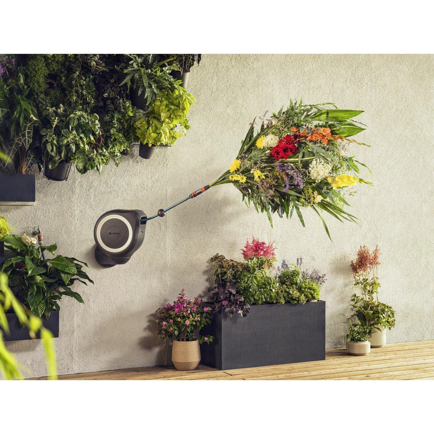 Gardena Gardena Wandslangenbox 15 RollUp S wit