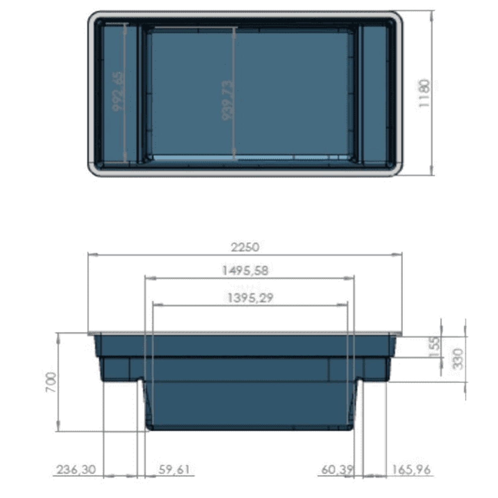 Ubbink Quadra C2, inhoud 1500 liter
