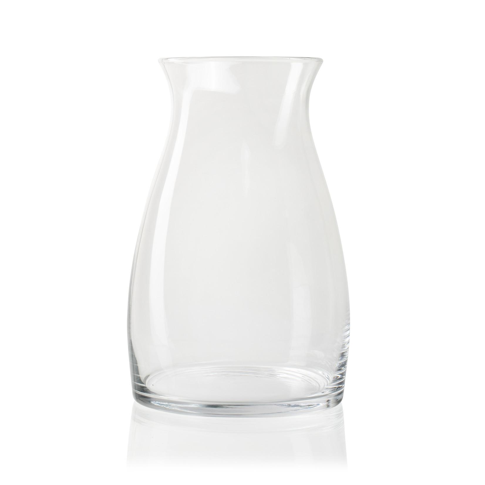 Jodeco Glass Glazen vaas 'Gina' H30 D15 cm Transparant
