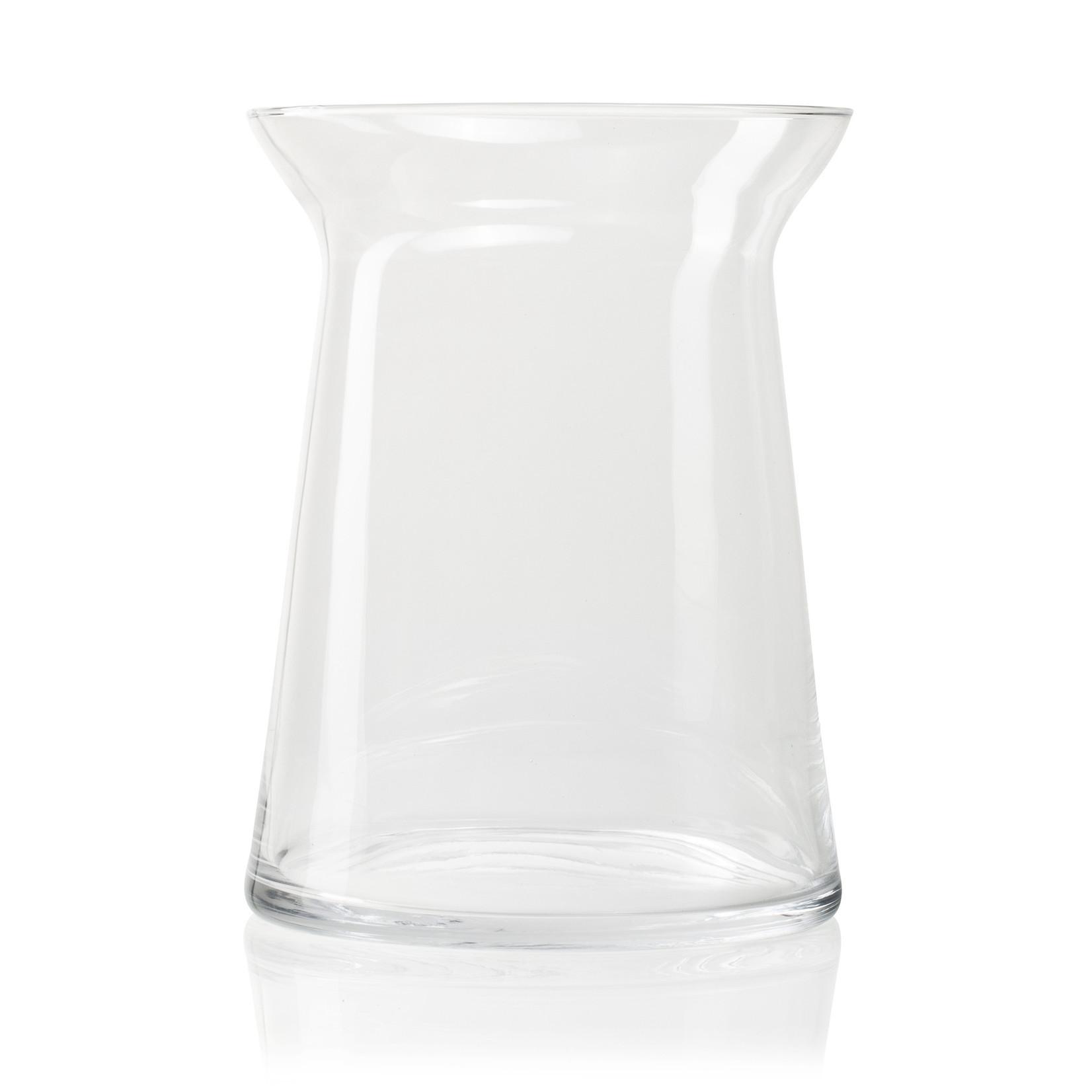 Jodeco Glass Glazen vaas 'Vicky' H25 D19 cm Transparant