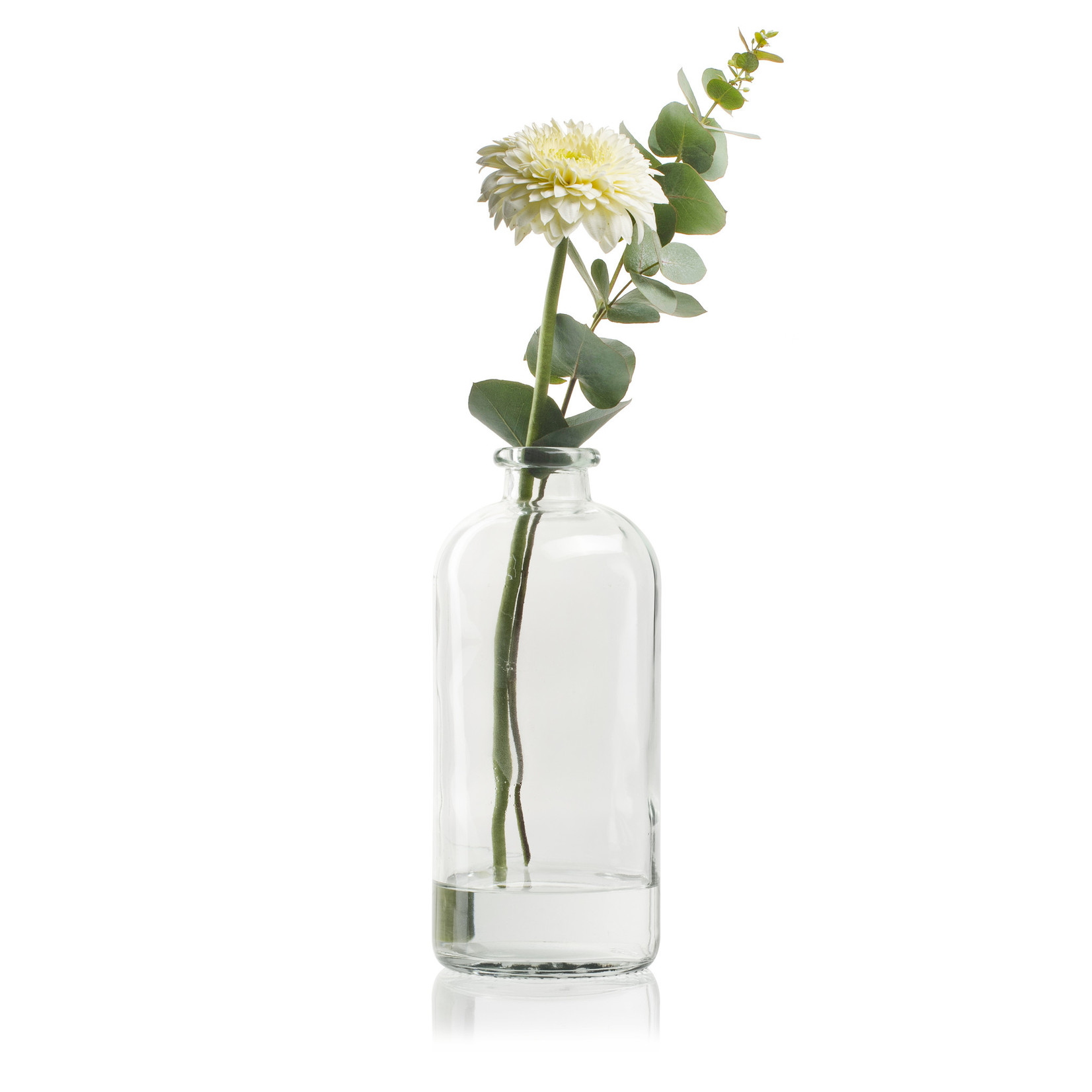 Jodeco Glass Flesvaas 'Fiona' H25 D11 cm Transparant