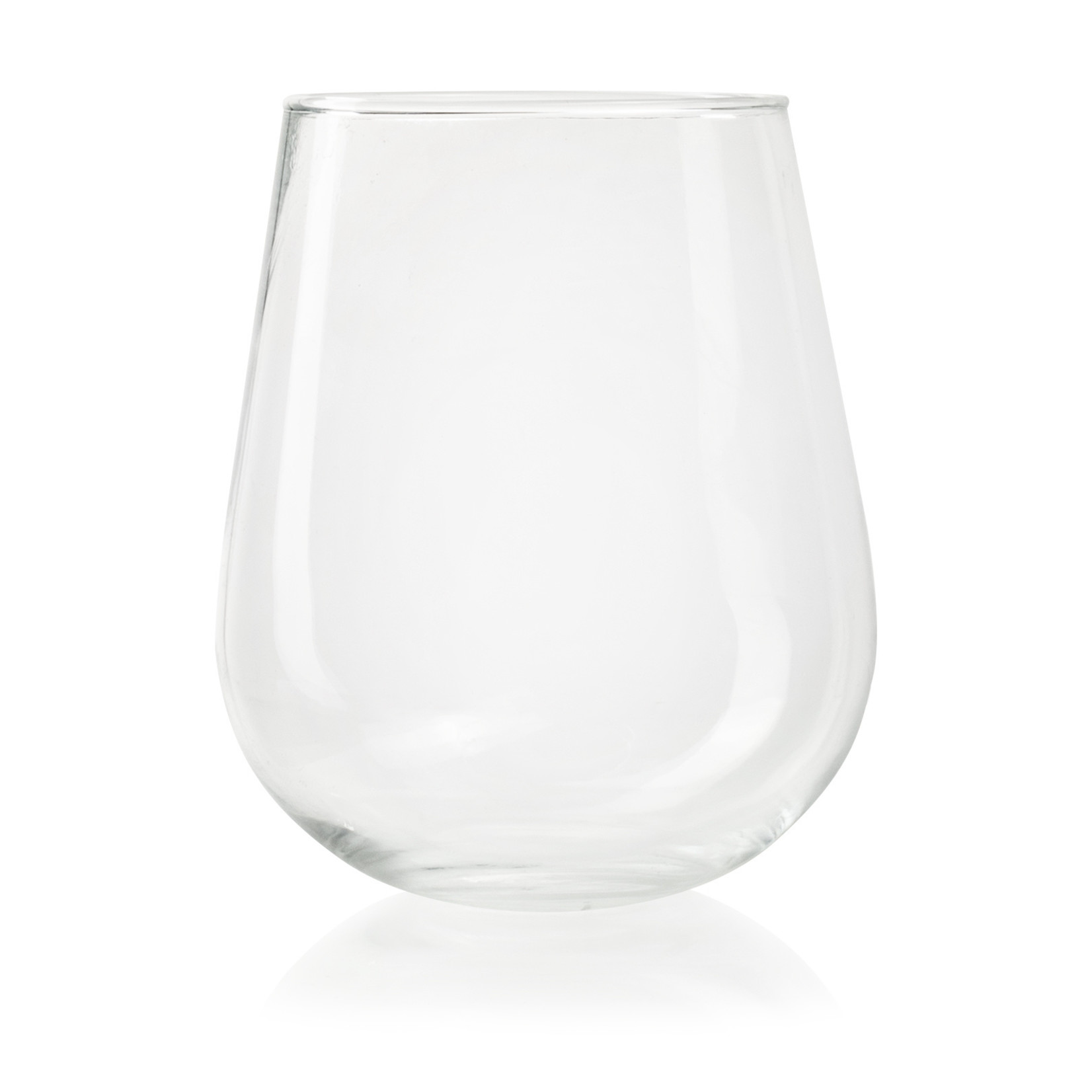 Jodeco Glass Glazen vaas 'Vani' H19 D12/16 cm Transparant