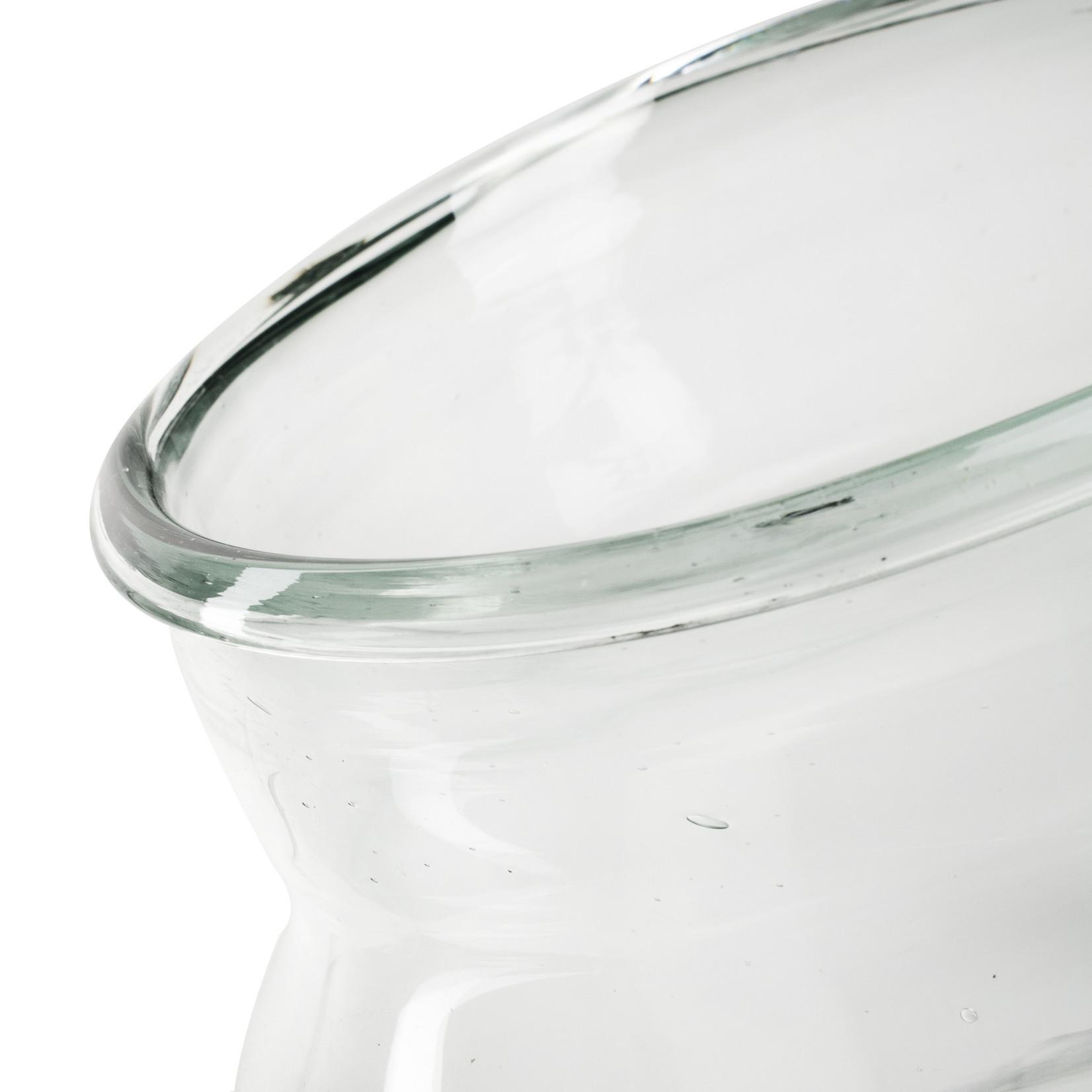 Jodeco Glass Eco vaas 'Emilian' H22 D21/17 cm Transparant