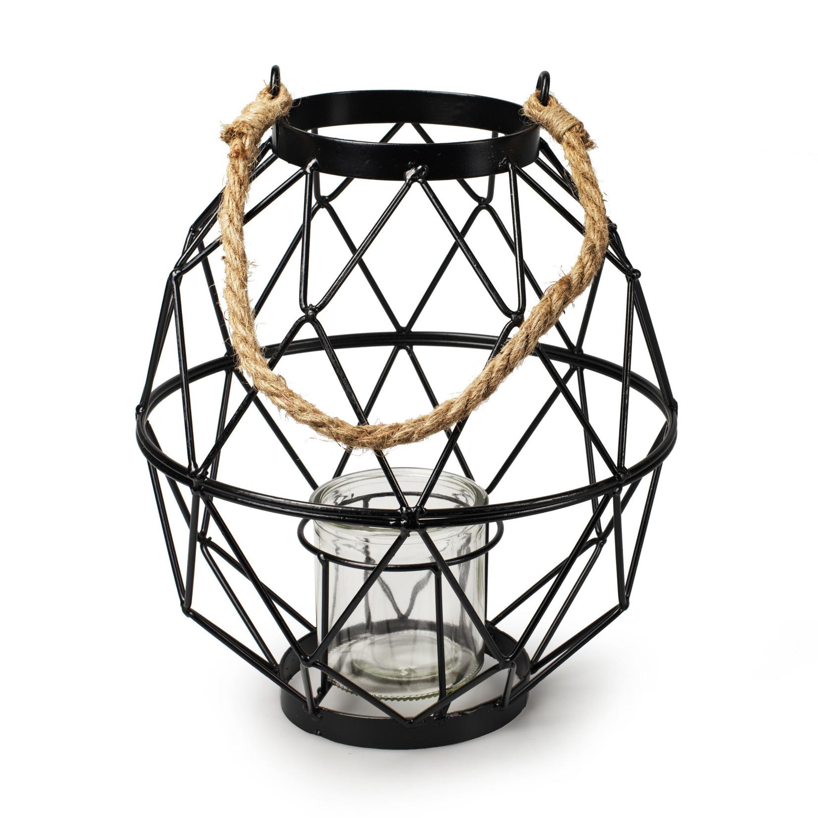 Jodeco Glass Metalen lantaarn 'Meyra'