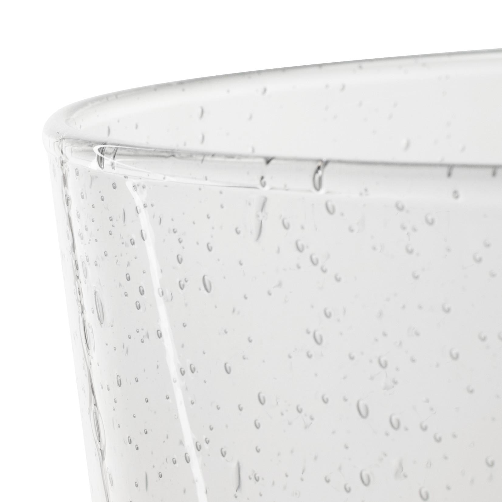 Jodeco Glass Design vaas 'Lexus' H24,5 D19 cm Transparant