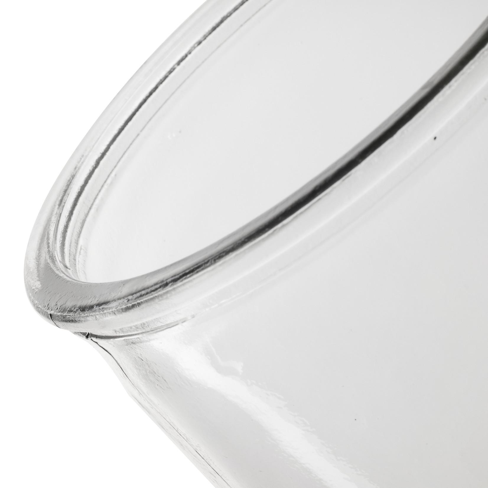 Jodeco Glass Glazen vaas 'Chloe' H25 D10 cm Transparant