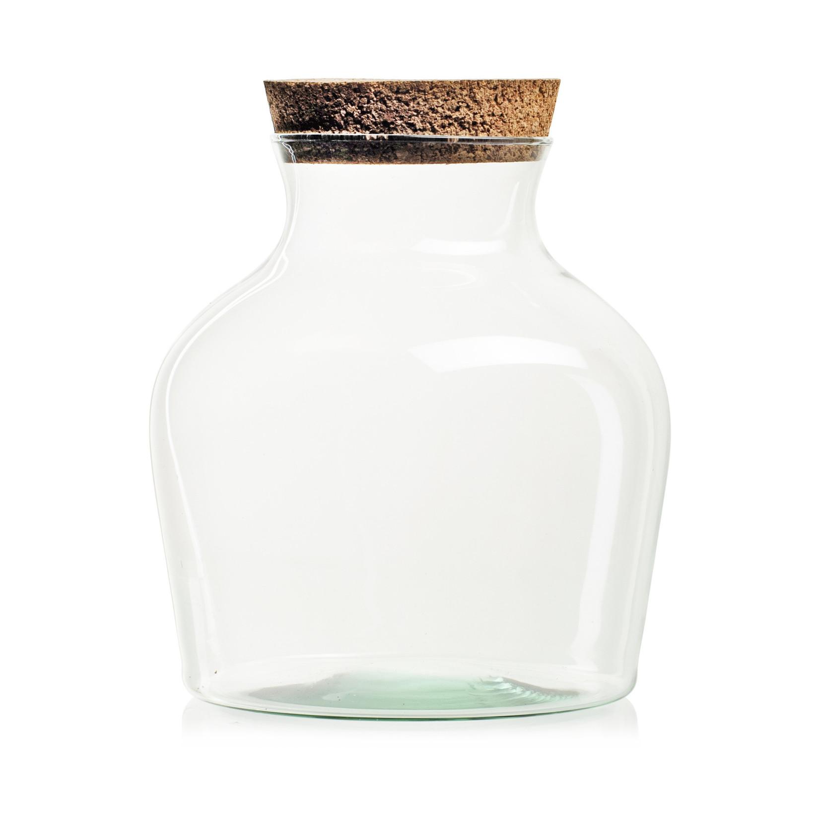 Jodeco Glass Eco terrarium 'Eva' H21 D17 cm Transparant