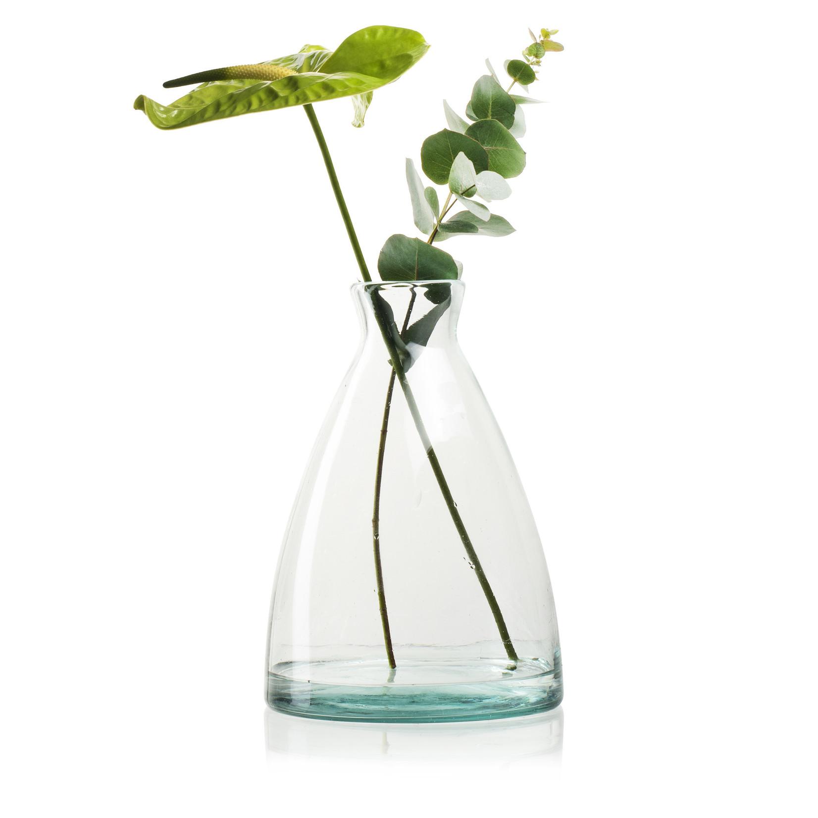 Jodeco Glass Eco vaas 'Evie' H27 D18/5 cm Transparant