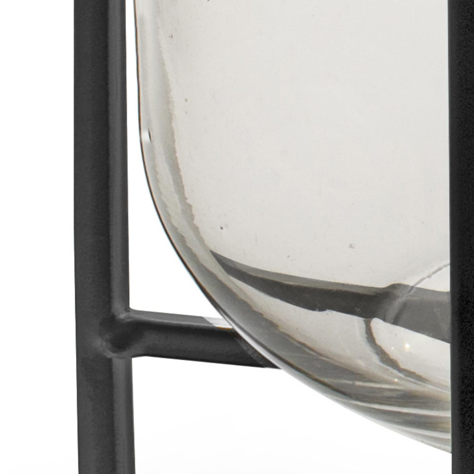 Jodeco Glass Industriele vaas 'Izzy' H26 D20 cm Transparant