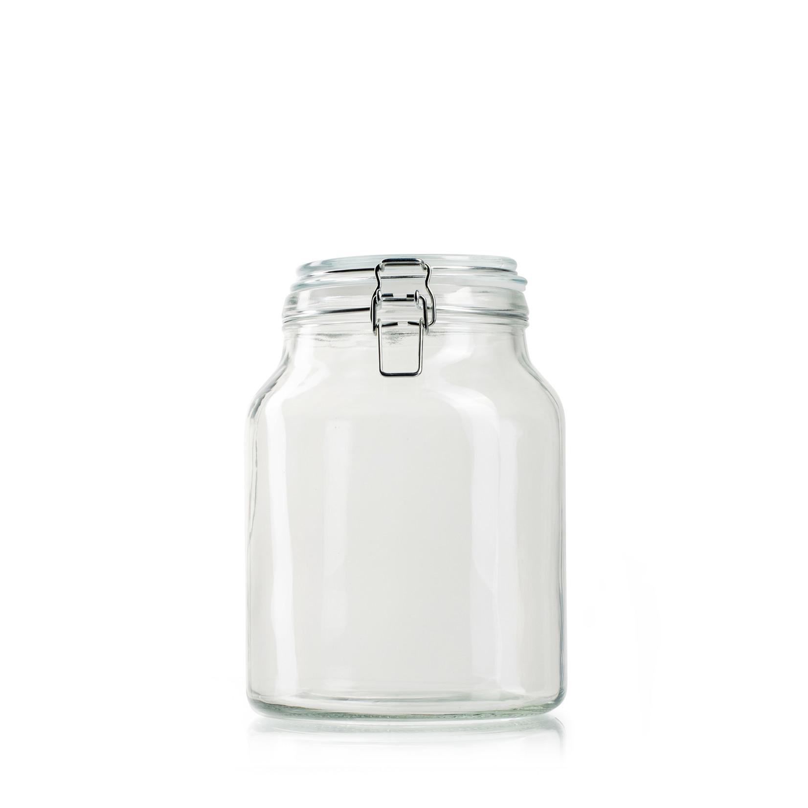 Jodeco Glass Glaspot met deksel 'Giovanny'