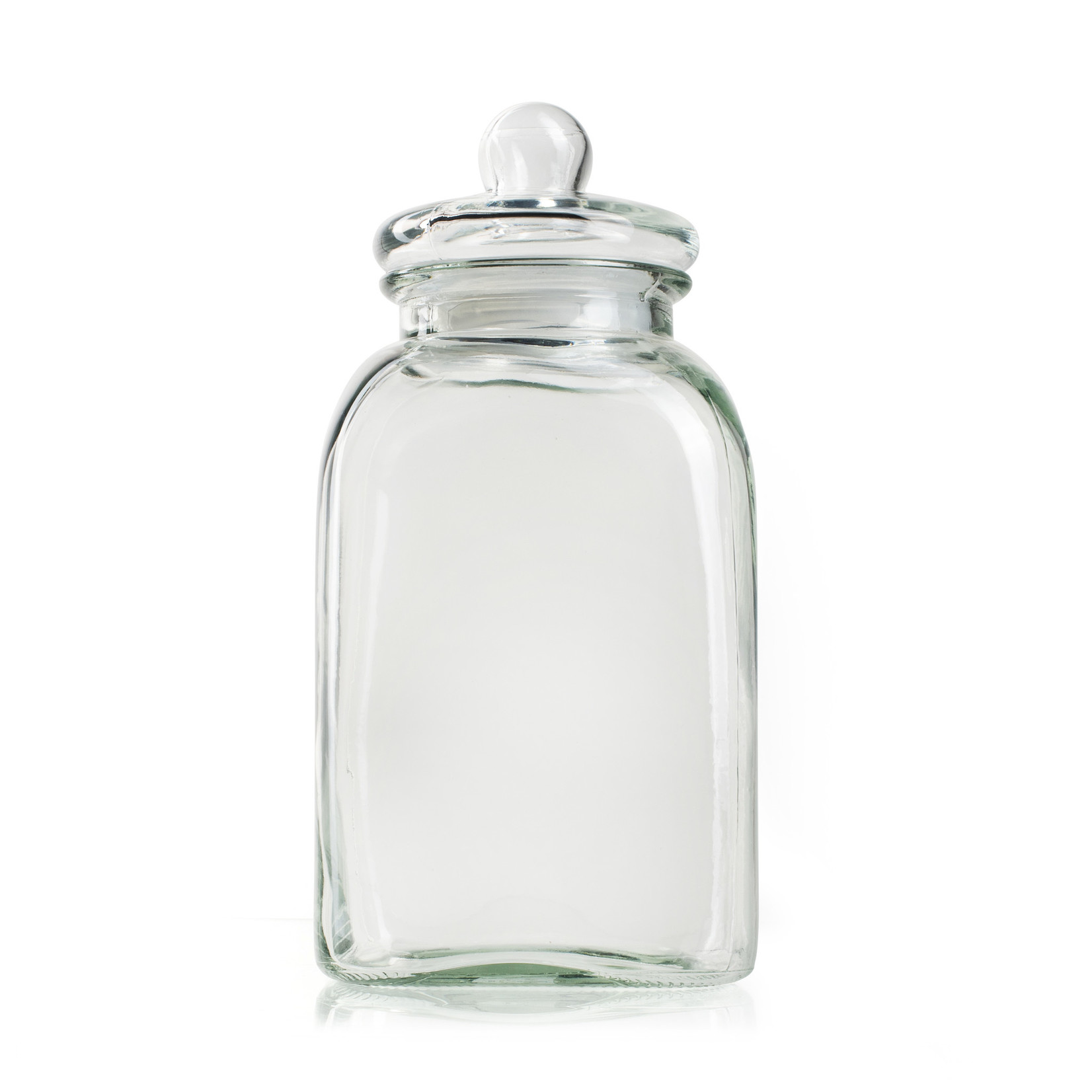 Jodeco Glass Glaspot met deksel 'Giel'