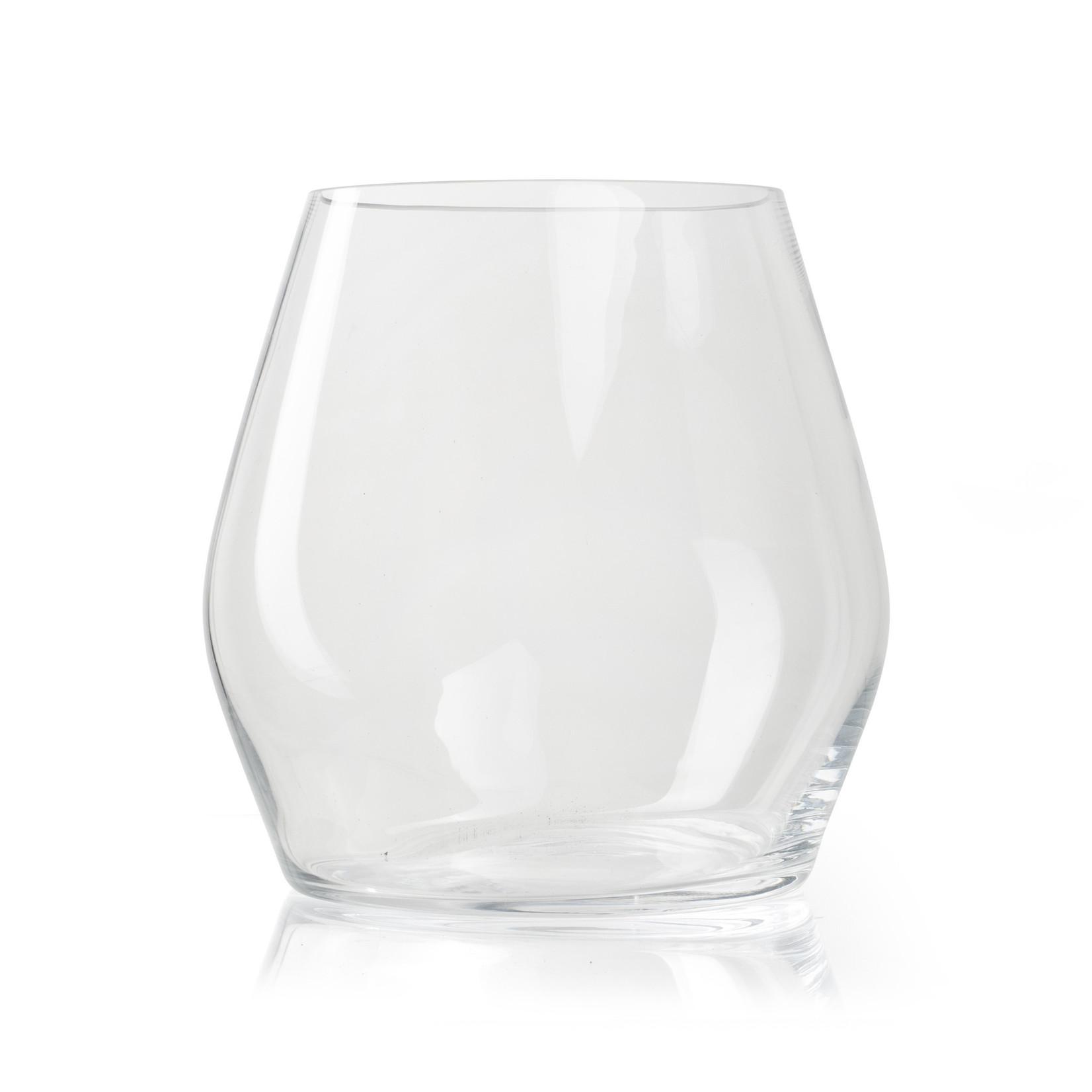 Jodeco Glass Glazen vaas 'George' H25 D25 cm Transparant