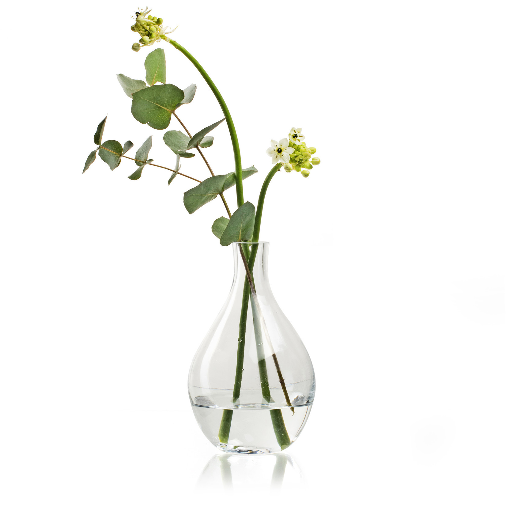 Jodeco Glass Glazen vaas 'Gaby' H20 D12 cm Transparant
