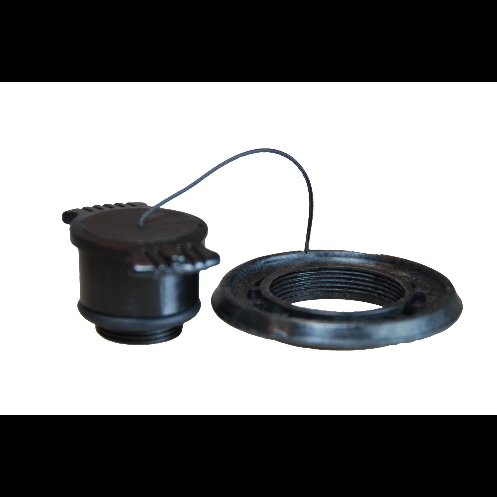 Zodiac Afsluitdop Z60052 - half verzonken ventiel zwart