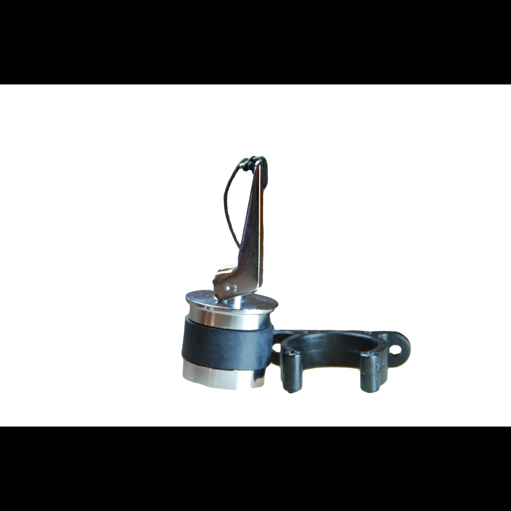 Zodiac Selfbailer drain plug SS D34 including holder