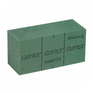 OASIS® FLORAL FOAM Maxlife ECONOMY Steekschuim Blok | 20 x 10 x 8 cm
