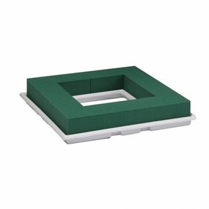 OASIS® FLORAL FOAM OASIS® Table Deco Quadro | Weiß | 27x27x4,5cm | 2 stück