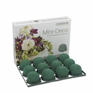 OASIS® FLORAL FOAM OASIS® Mini Deco | Grün | Ø5x3,5cm | 12 stück