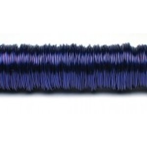 H&R Deco Lak Draad op Houten Klos Blauw Ø0,50mm x50m | 100g