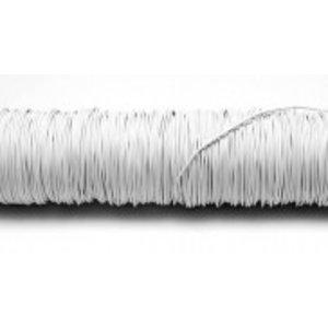 H&R Deco Lak Draad op Houten Klos Wit Ø0,50mm x50m | 100g