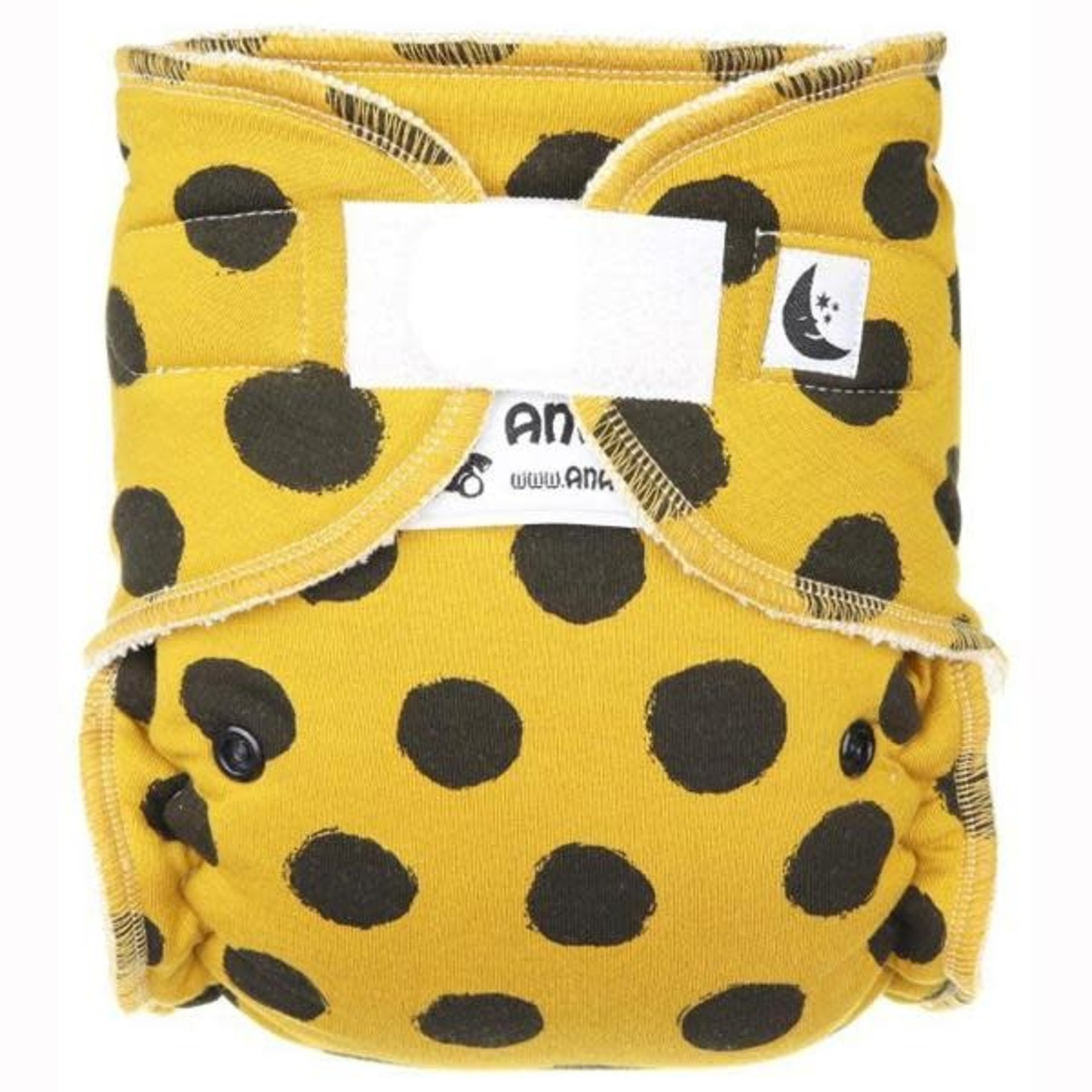 Anavy Nachtluier (Maxi XL) VELCRO - Black dots mustard
