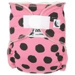 Anavy Nachtluier (Maxi XL) VELCRO - Black dots pink