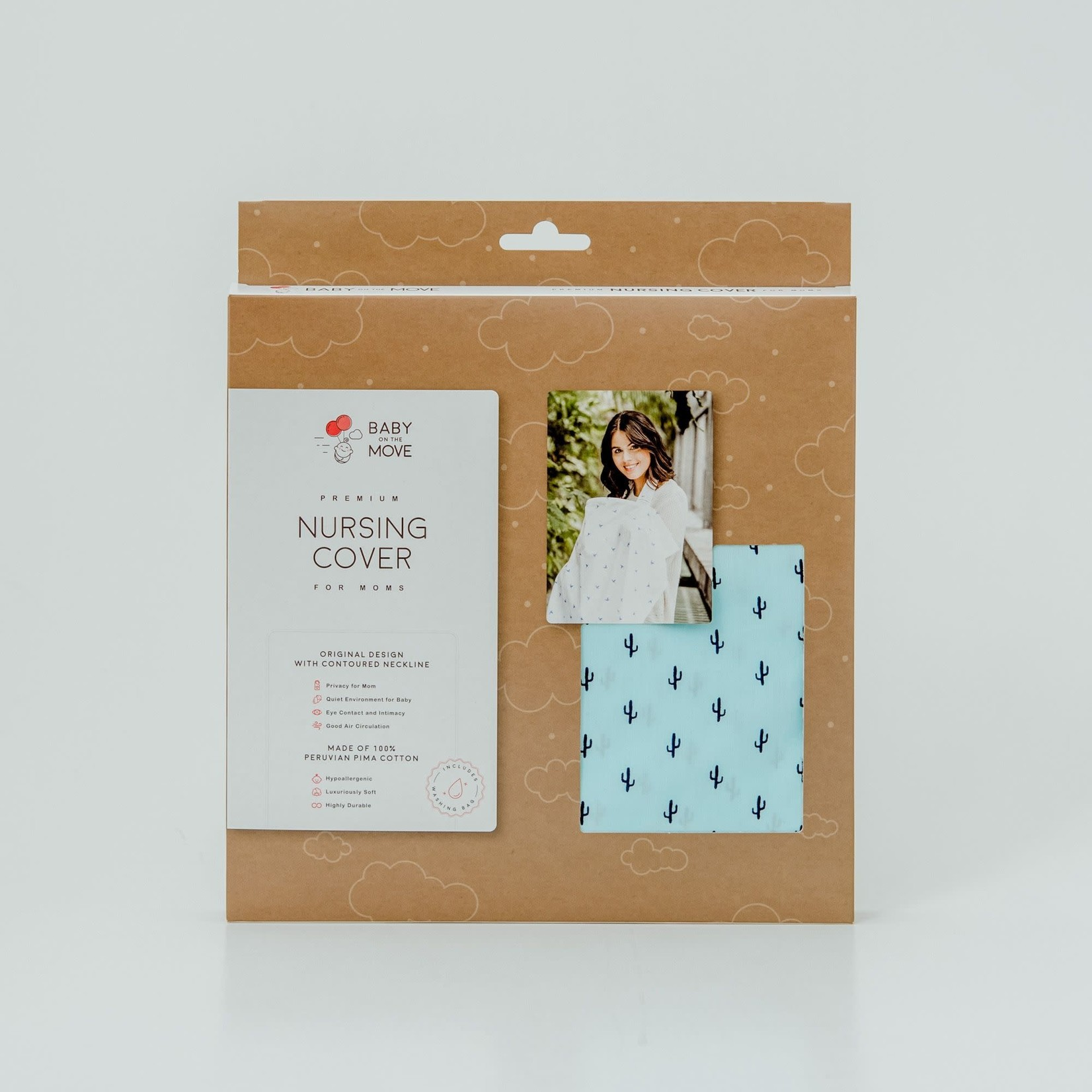 Baby on the Move Nursing Cover (Groovy Cactus)
