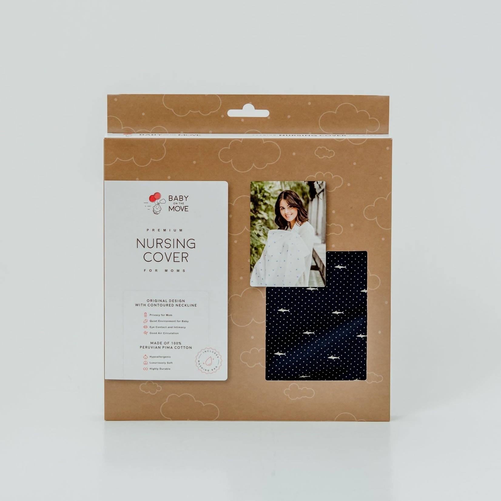 Baby on the Move Nursing Cover (Deep Blue)