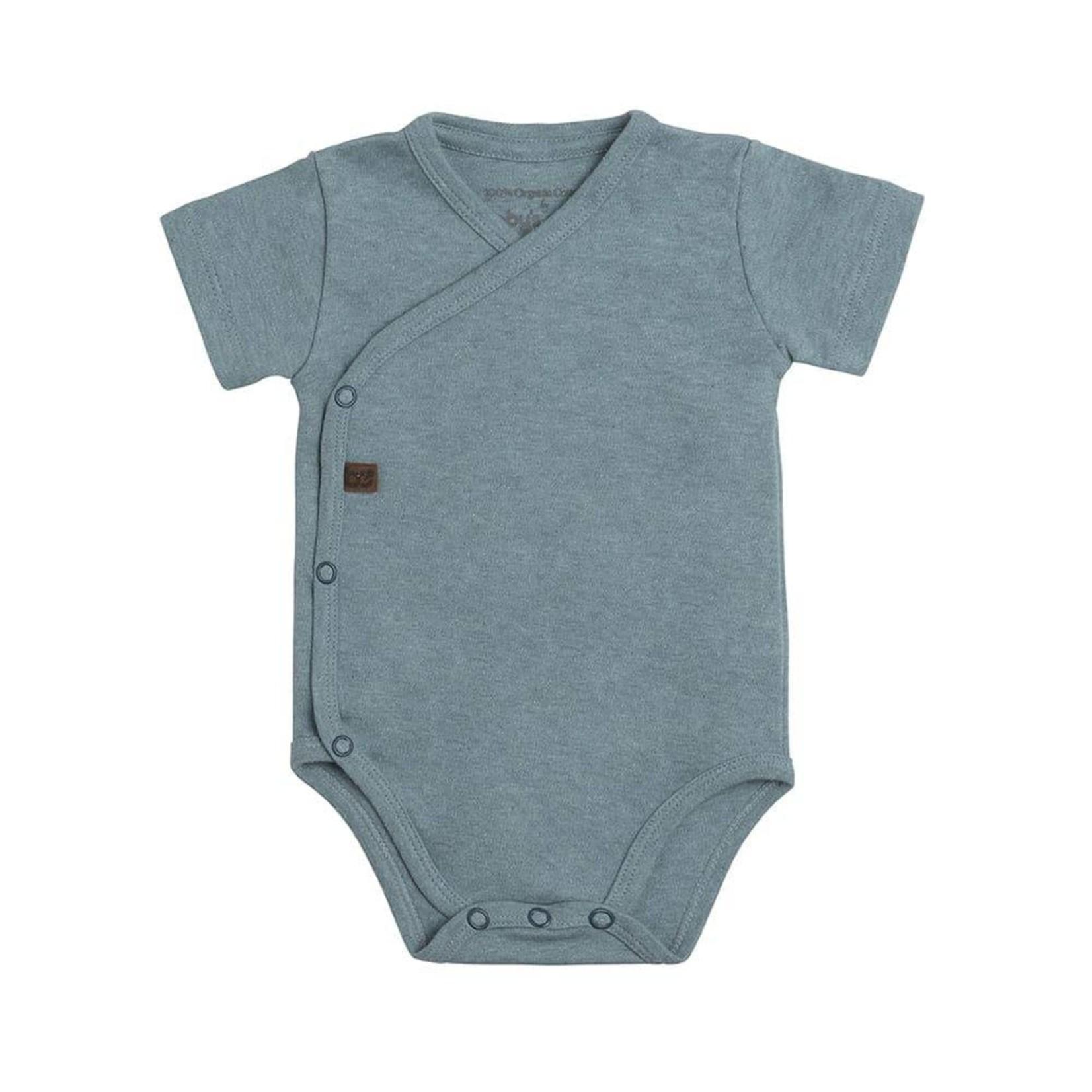 Baby's Only Romper korte mouw Melange (Stonegreen)