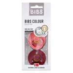 BIBS Fopspeen natuurrubber Coral/Ruby