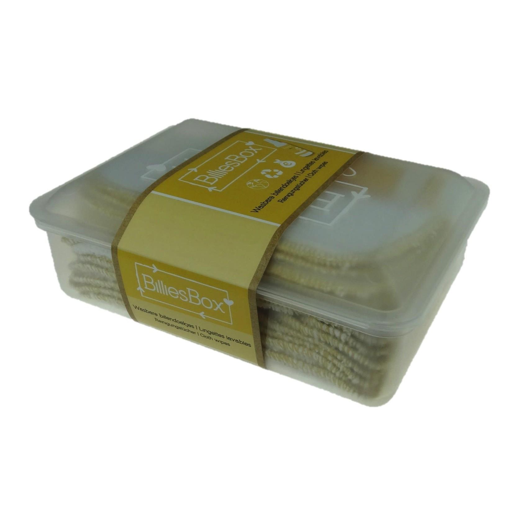 BilliesBox Wasbare doekjes met doos (Wit-Kamille)