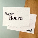"BLOOM Your Message Bloeikaart ""Hiep hiep hoera"""
