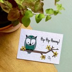 "BLOOM Your Message Bloeikaart Owl ""Hip Hip Hooray"""