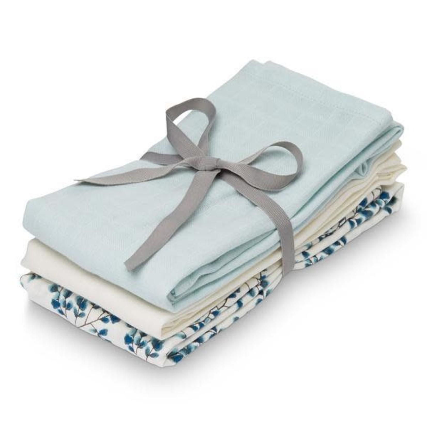 Cam Cam Tetradoeken 3 stuks (Fiori-Light Blue-Cream White)