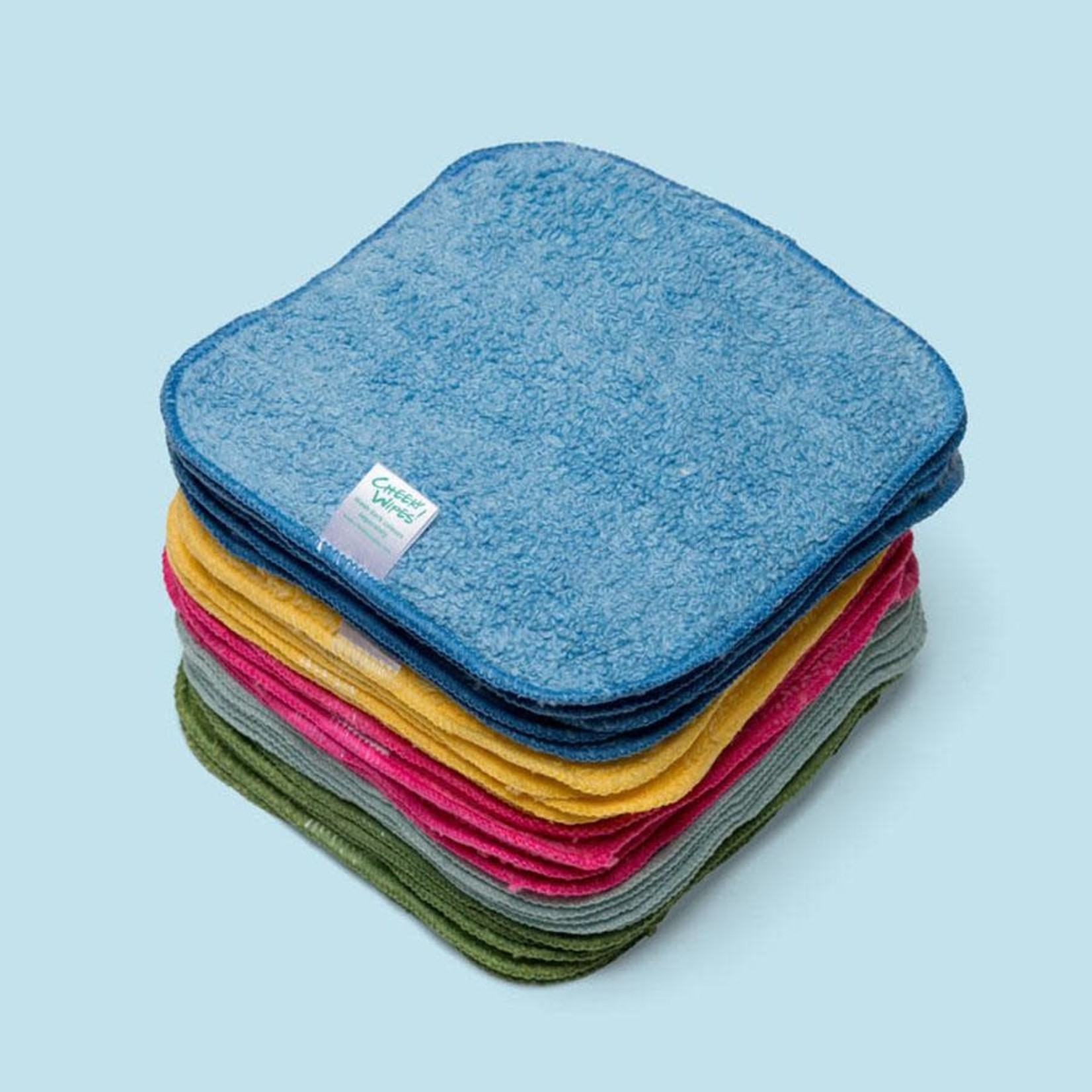 Cheeky Wipes 25 wasbare doekjes ORGANIC PREMIUM katoen kleur