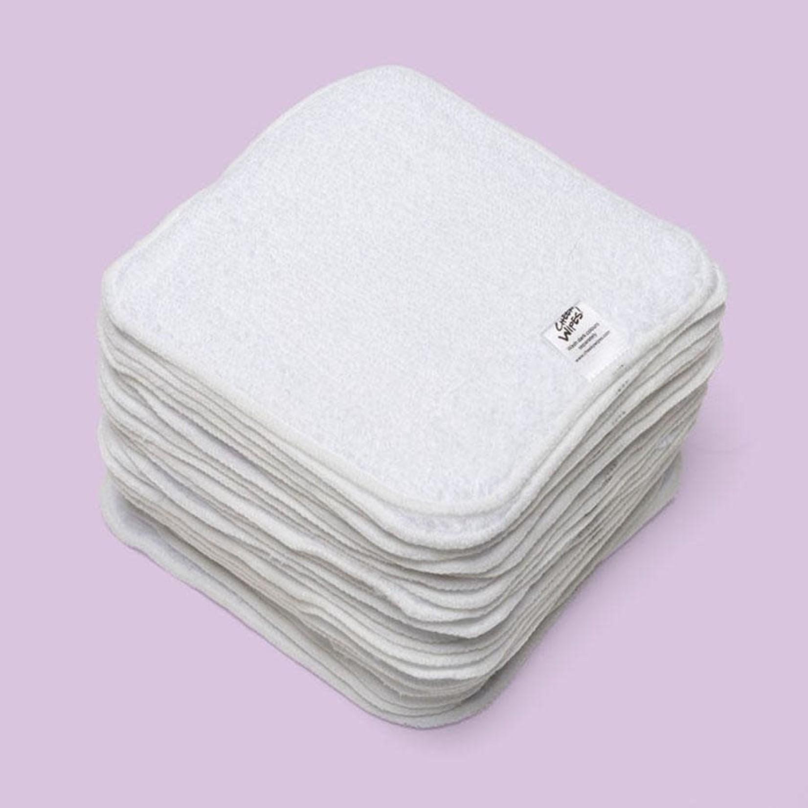 Cheeky Wipes 25 wasbare doekjes ORGANIC PREMIUM katoen wit