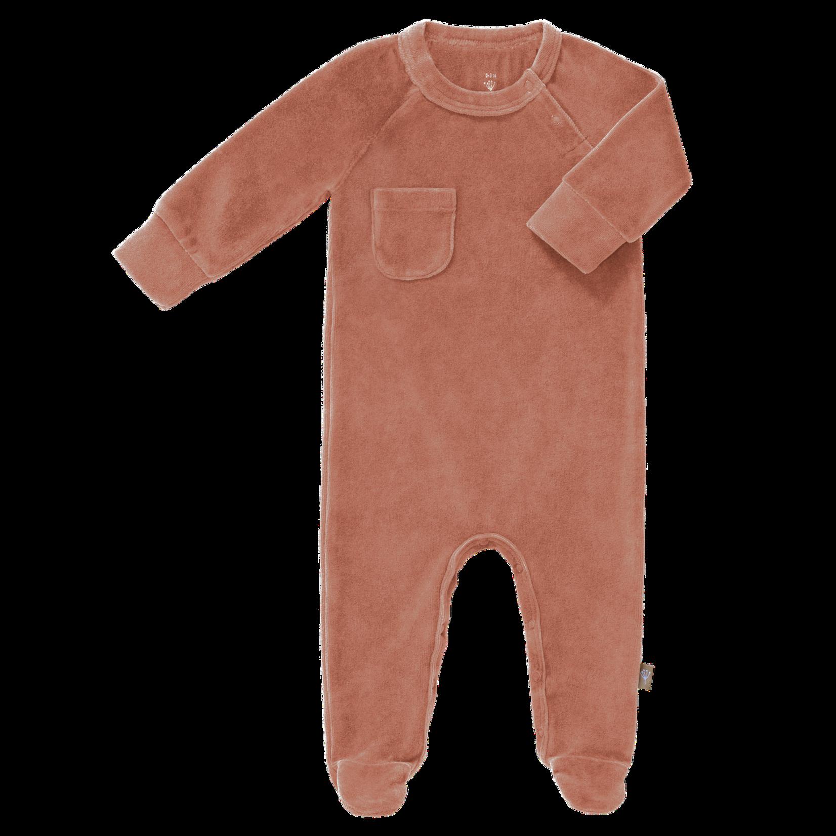 Fresk Pyjama velours met voet (Ash rose)