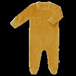 Fresk Pyjama velours met voet (Mimosa)