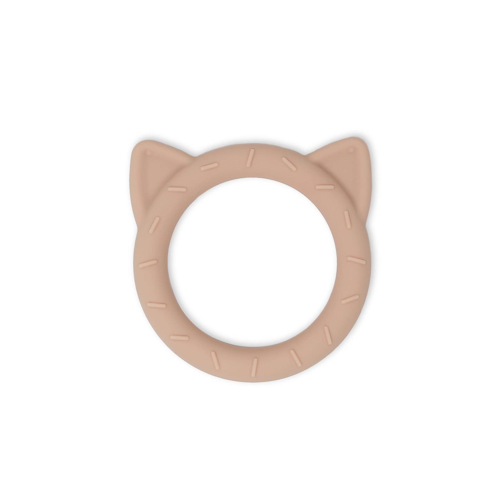 Mushie Bijtring Cat (Blush)
