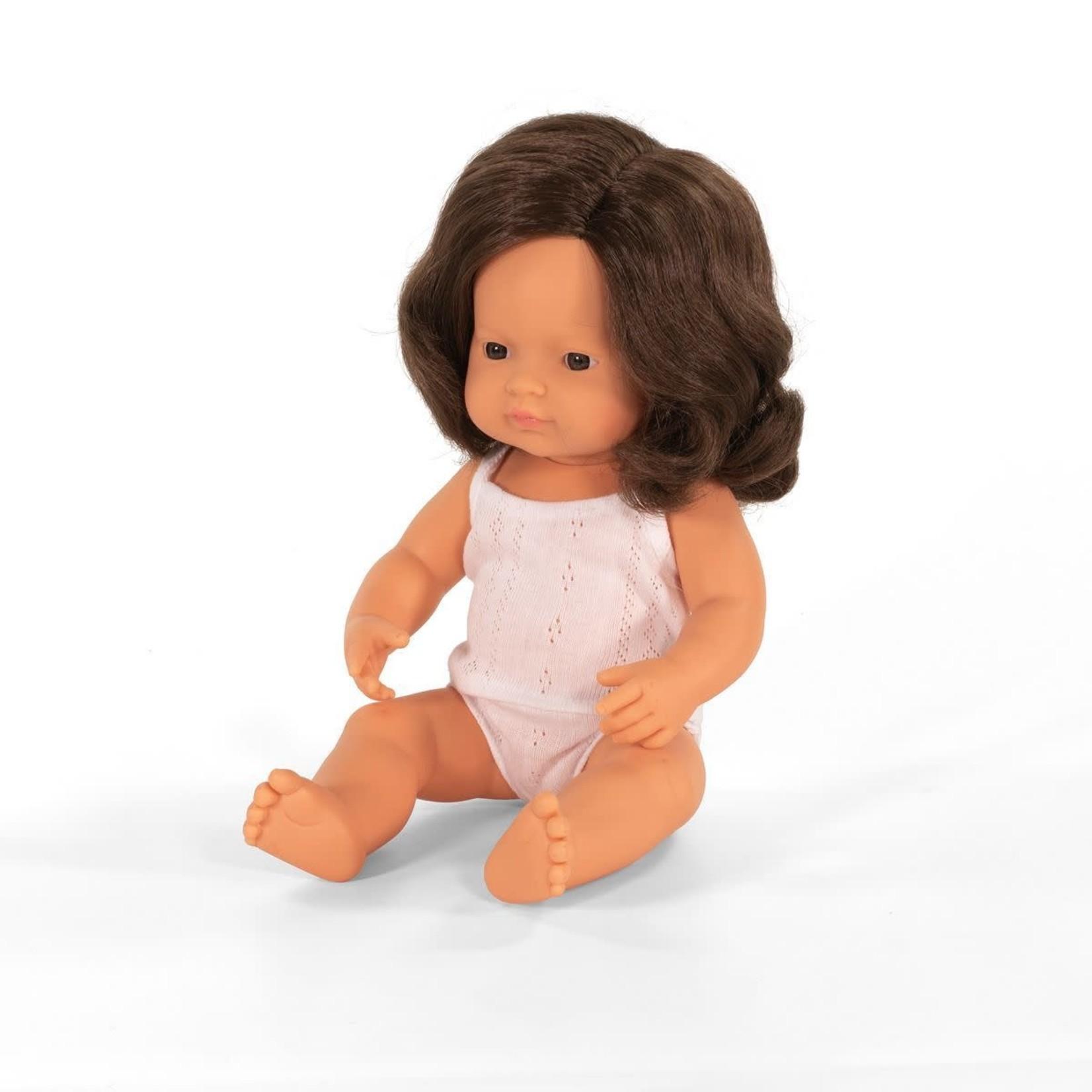 Miniland Pop Bruinharig meisje (38cm)
