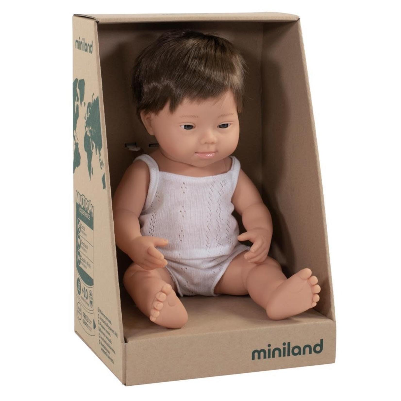 Miniland Pop Europese jongen met syndroom van down (38cm)