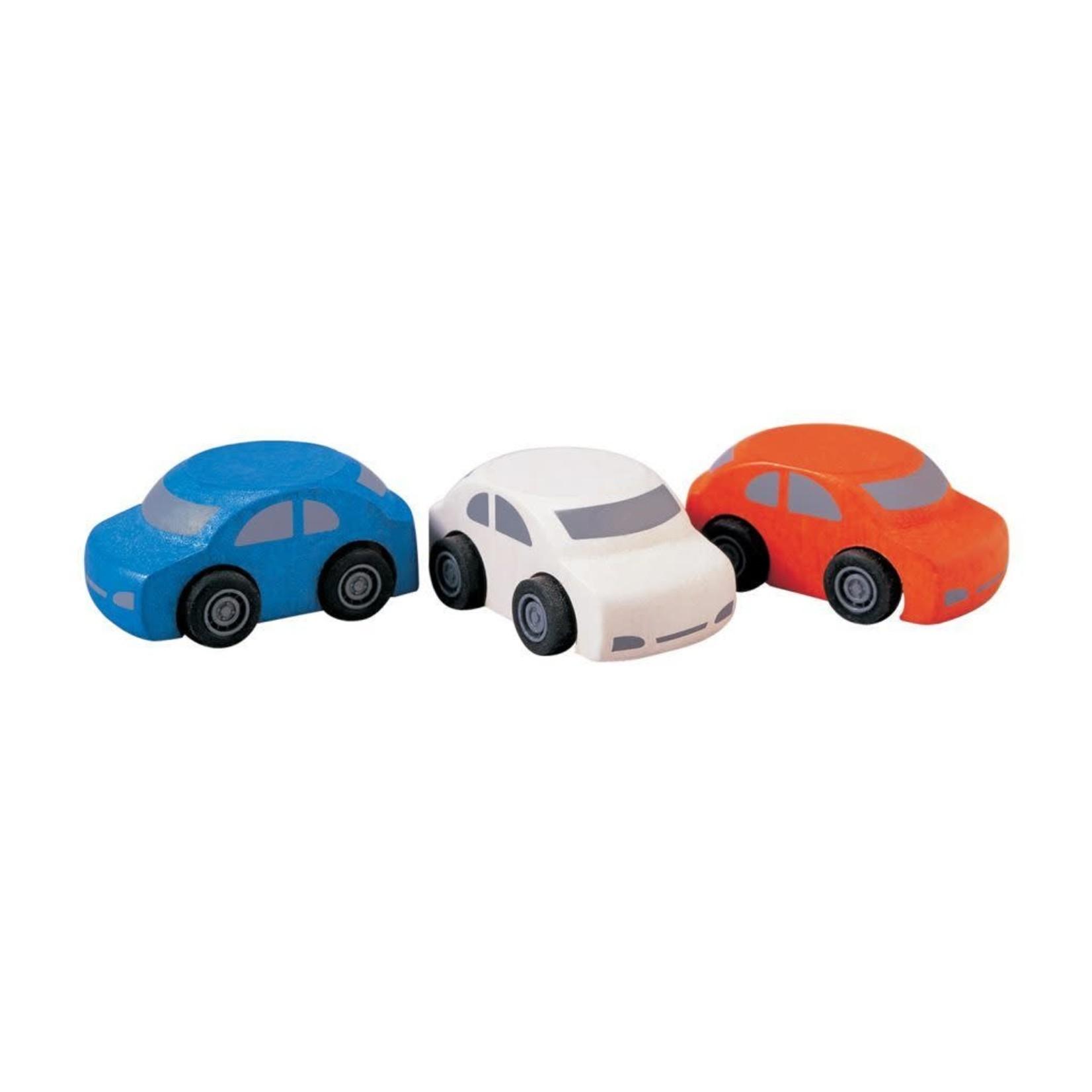 PlanToys Auto's (Blauw-Wit-Rood)