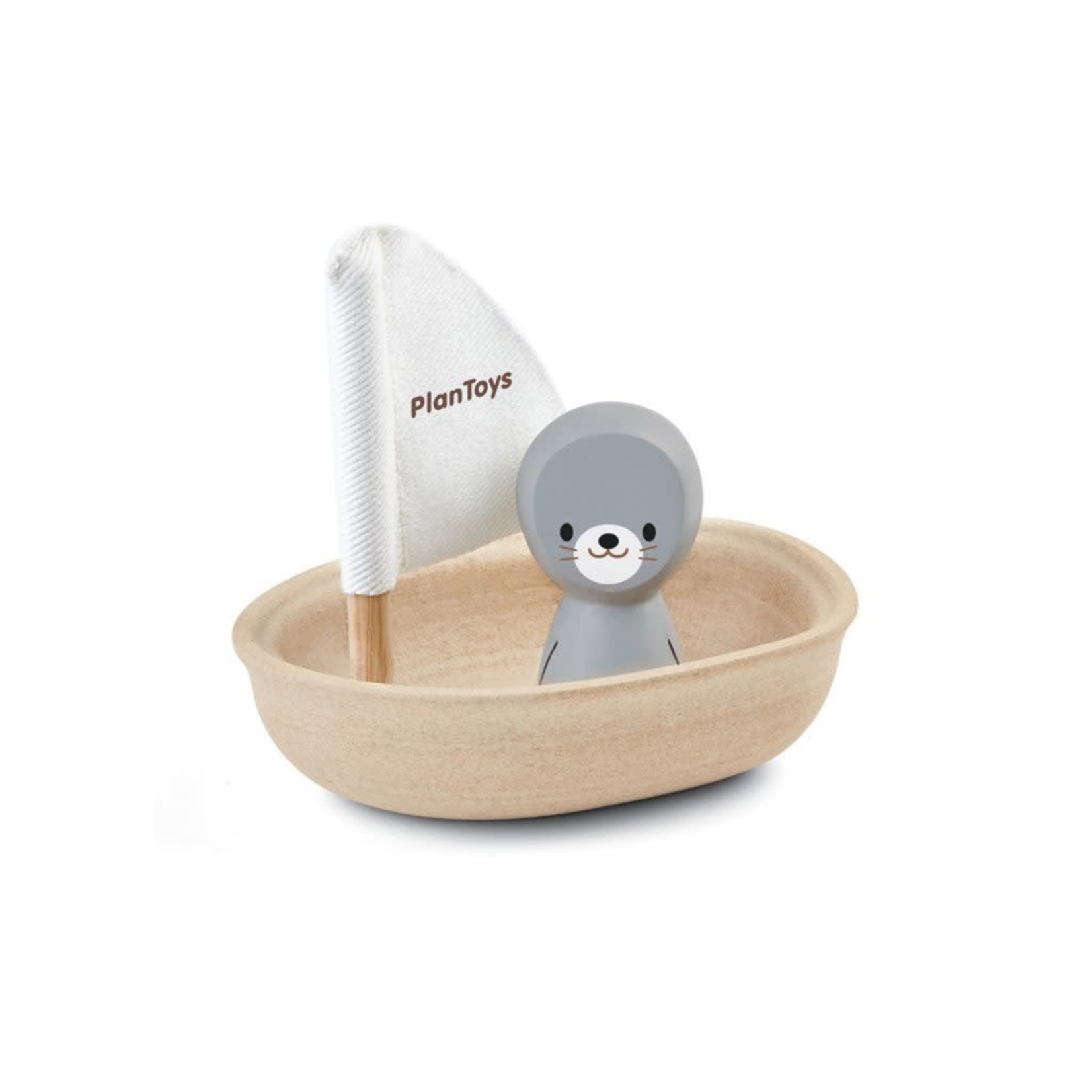 PlanToys Zeilboot met zeehond