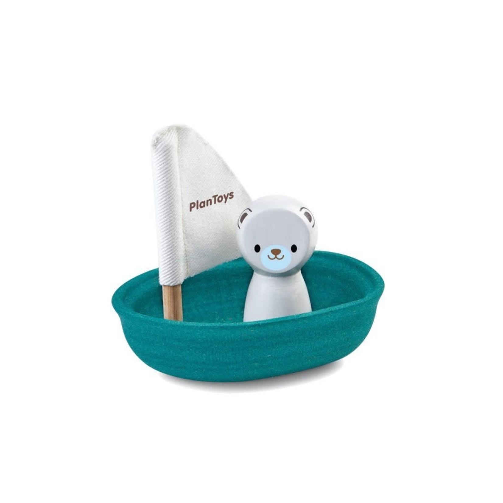 PlanToys Zeilboot met ijsbeer
