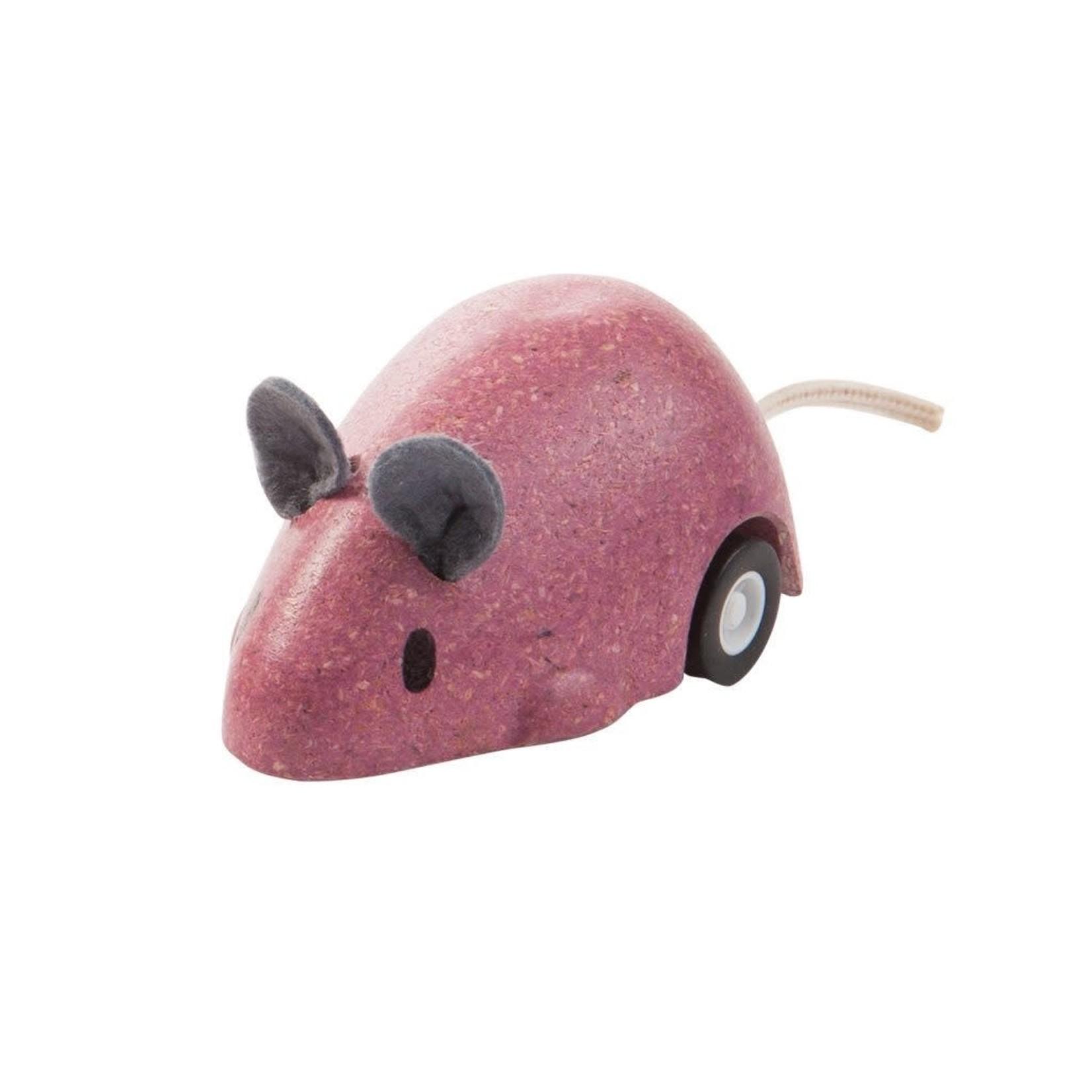 PlanToys Bewegende muis (Roze)