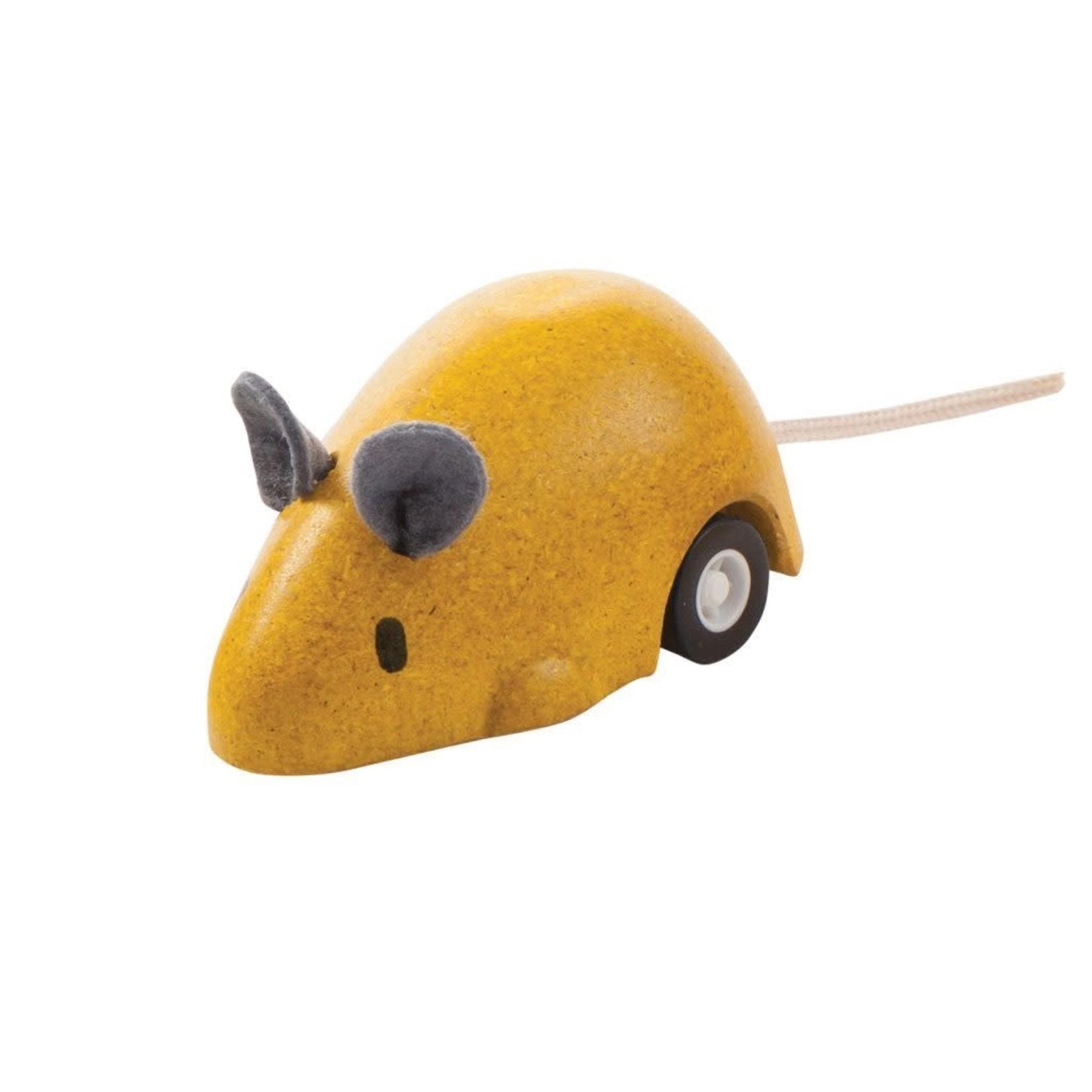 PlanToys Bewegende muis (Geel)