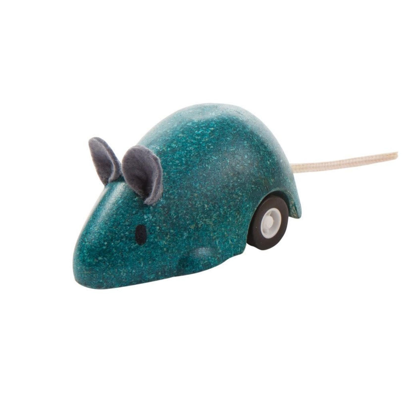 PlanToys Bewegende muis (Blauw)
