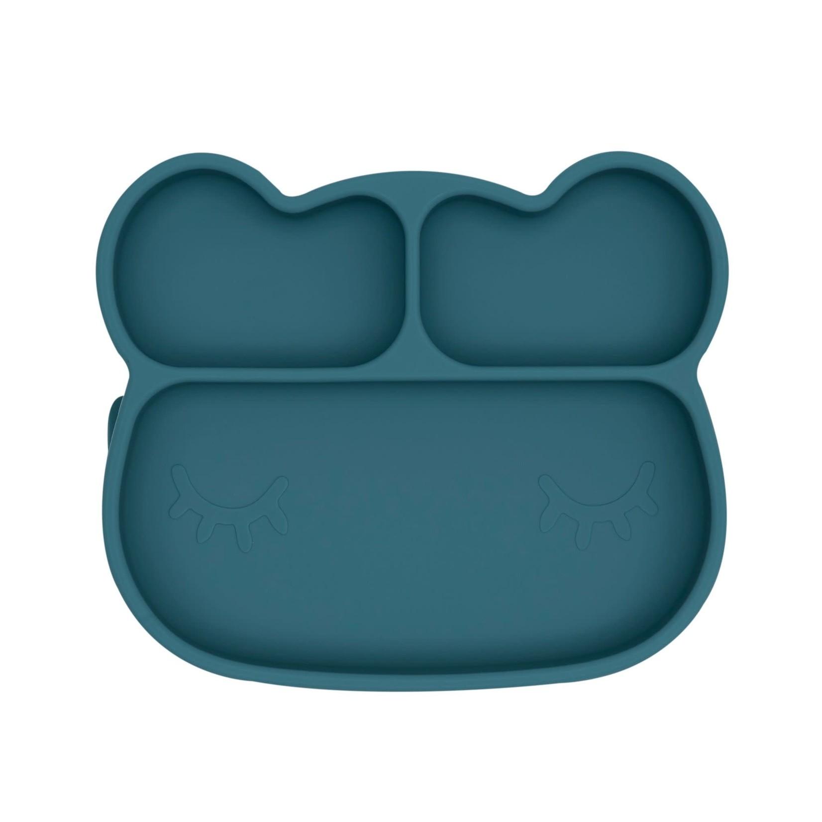 We Might Be Tiny Bear Sticky Plate (Blue Dusk)